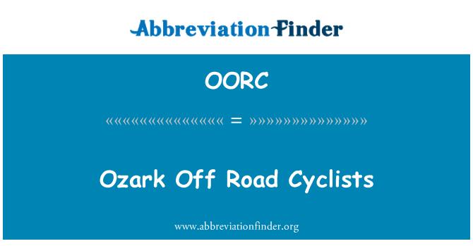 OORC: Ozark Off Road Cyclists