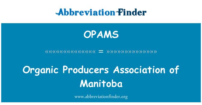OPAMS: Organik Derneği Manitoba
