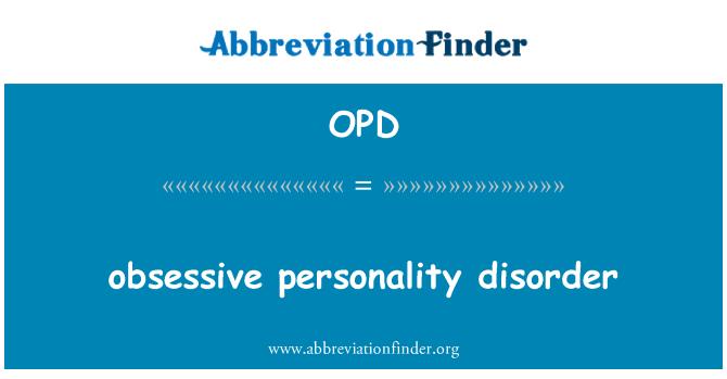 OPD: tvangspreget personlighetsforstyrrelse