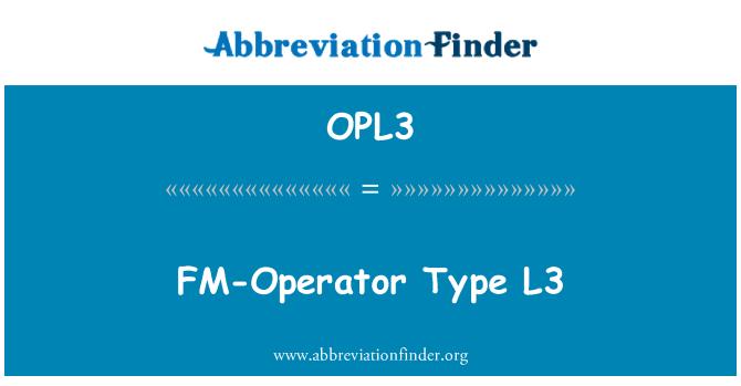 OPL3: FM-Operator Type L3