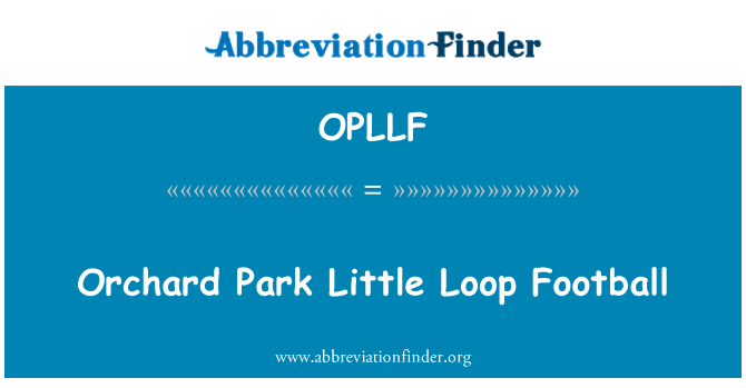 OPLLF: Orchard Park Little Loop Football