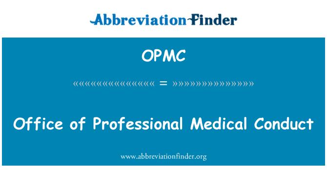 OPMC: Oficina de conducta profesional médica