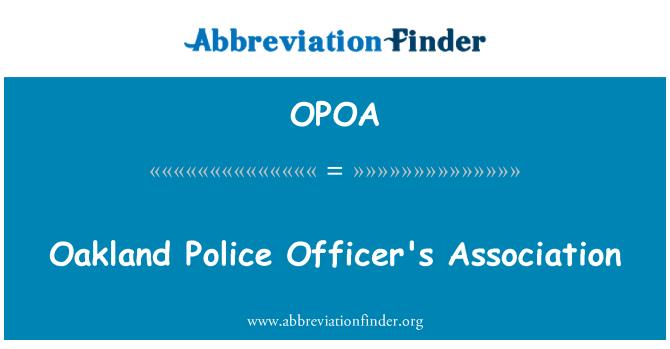 OPOA: Oakland polis memurunun Derneği