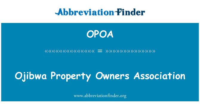 OPOA: Asociación de propietarios de propiedad Ojibwa