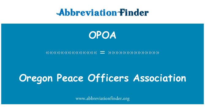 OPOA: Oregon Peace Officers Association