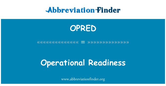 OPRED: Operational Readiness