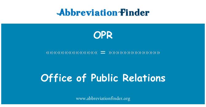 OPR: Avalike suhete büroo