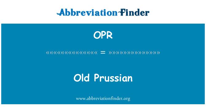 OPR: Vana-Preisi keel