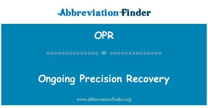 OPR: Jätkuv täpne taastamine