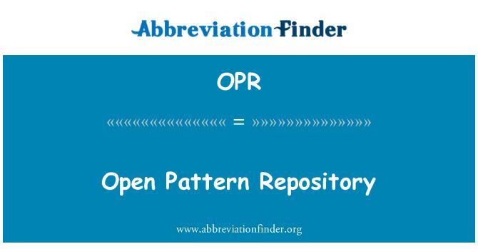 OPR: Açık desen deposu