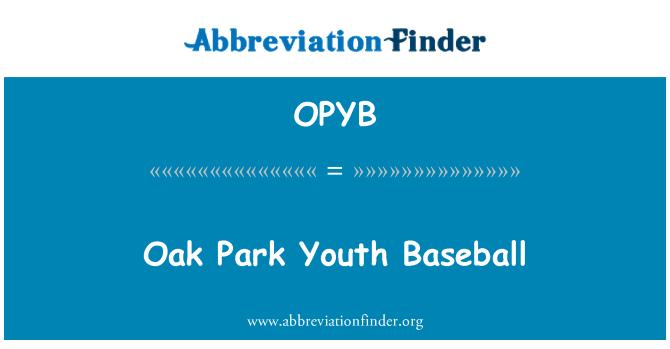 OPYB: Oak Park Youth Baseball