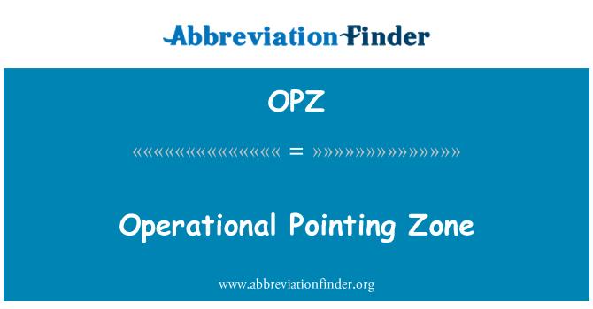 OPZ: Zona operativa señalando