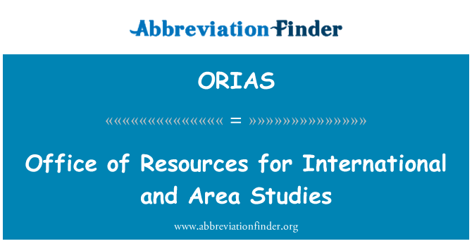 ORIAS: Office of Resources for International and Area Studies
