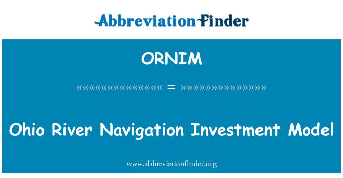ORNIM: Ohio River Navigation Investment Model
