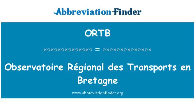 ORTB: Observatoire Régional des Transports en Bretagne