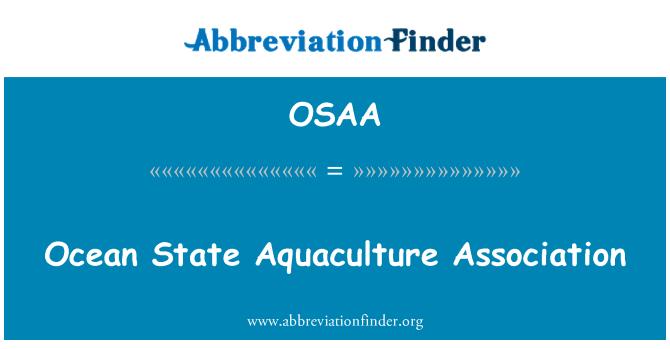 OSAA: Okyanus devlet su ürünleri Derneği
