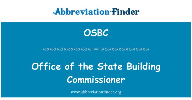 OSBC: State Building voliniku institutsiooni