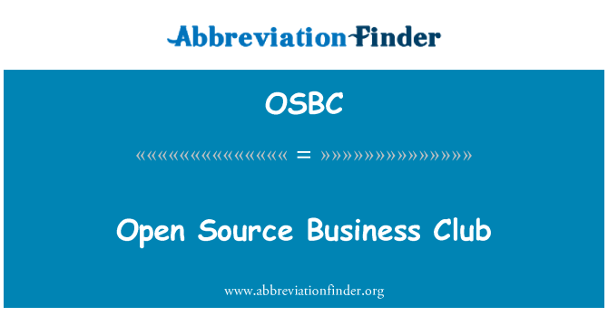 OSBC: Avatud lähtekoodiga Äriklubi