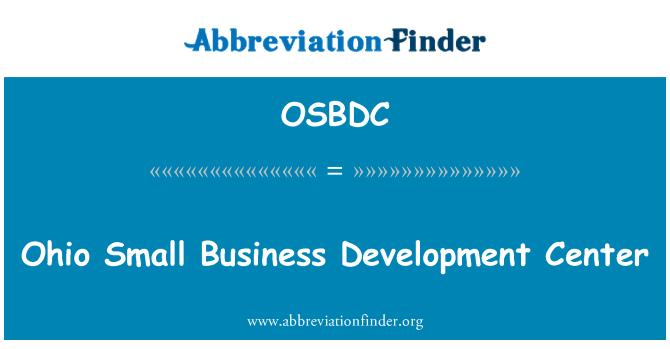 OSBDC: Ohio Small Business Development Center
