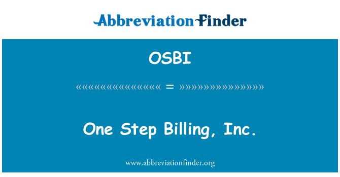 OSBI: Üks samm arved, Inc