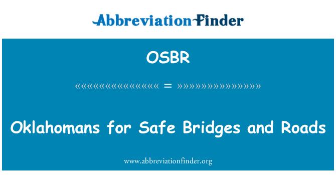 OSBR: Oklahomans for Safe Bridges and Roads