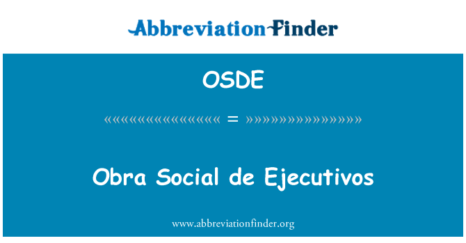OSDE: اوبرا سماجی de اجیکوٹاواوس