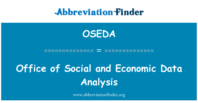 OSEDA: Office of Social and Economic Data Analysis
