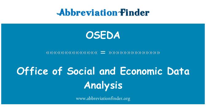 OSEDA: Celní úřad analýzy sociálních a ekonomických údajů