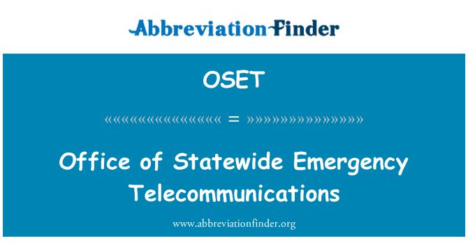 OSET: Ured za cijelu državu hitne telekomunikacije