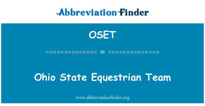 OSET: Ohio State Equestrian Team