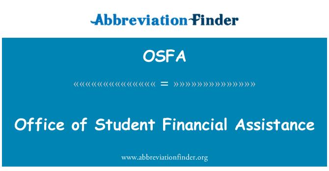 OSFA: Öğrenci mali yardım ofisi