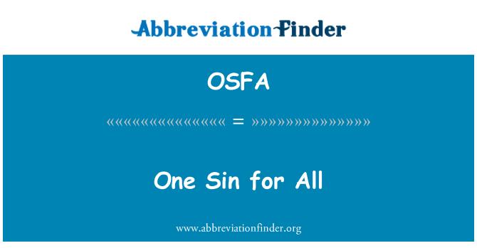 OSFA: Herkes için bir günah