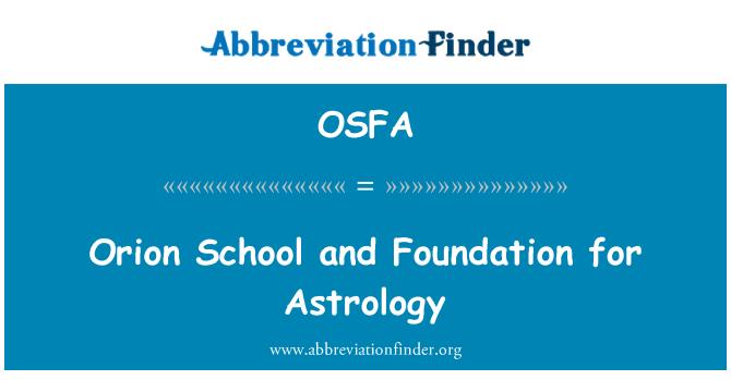 OSFA: Orion kooli ja sihtasutuse astroloogia