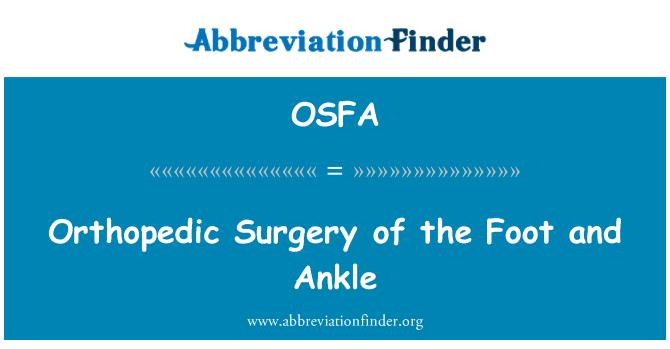 OSFA: Ortopeedilist operatsiooni labajala ja hüppeliigese