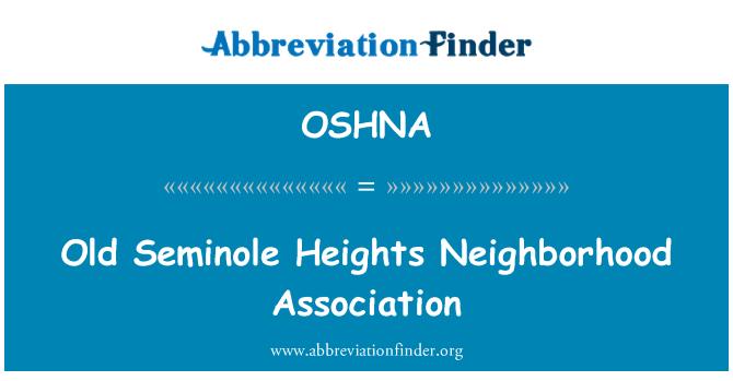 OSHNA: Old Seminole Heights Neighborhood Association