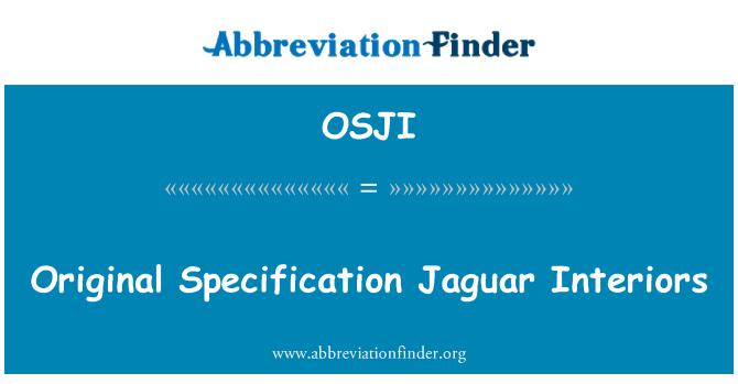 OSJI: Original Specification Jaguar Interiors