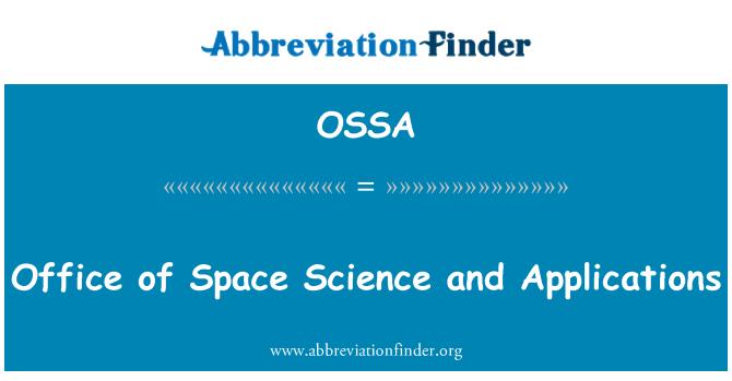 OSSA: Oficina de ciencia espacial y aplicaciones