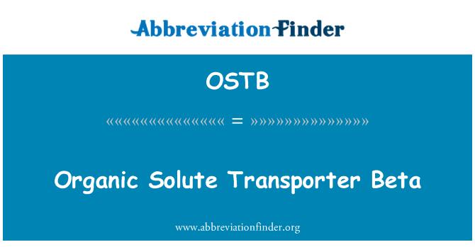 OSTB: Organic Solute Transporter Beta