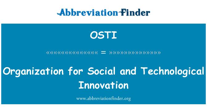 OSTI: Organisatsiooni sotsiaalse ja tehnoloogilise innovatsiooni