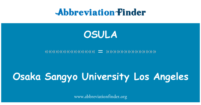 OSULA: Osaka Sangyo Sveučilišta Los Angeles