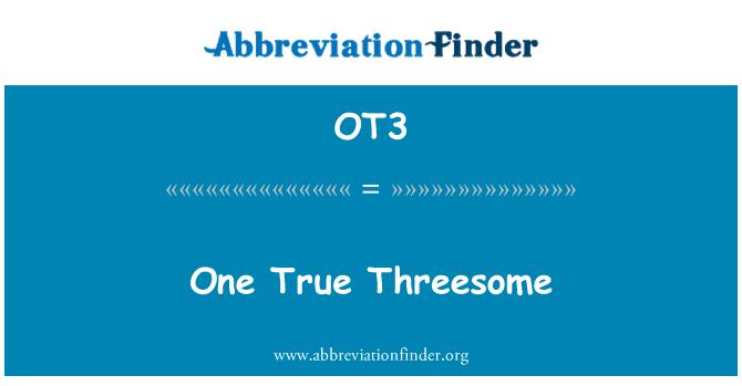 OT3: One True Threesome