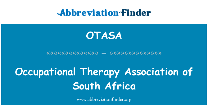 OTASA: Occupational Therapy Association of South Africa