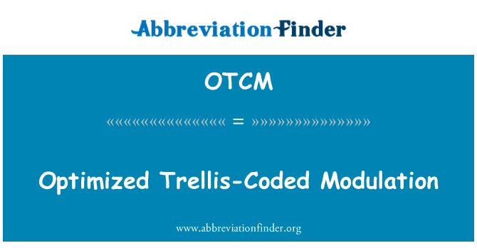 OTCM: Modulación Trellis-Coded optimizada