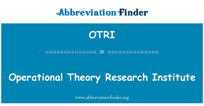OTRI: Instituto de investigación de la teoría operacional