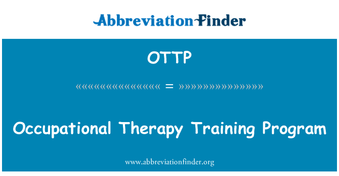 OTTP: Occupational Therapy Training Program