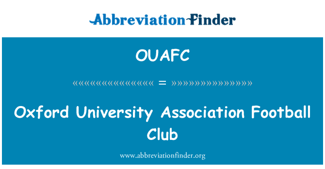 OUAFC: Oxford University Association Football Club