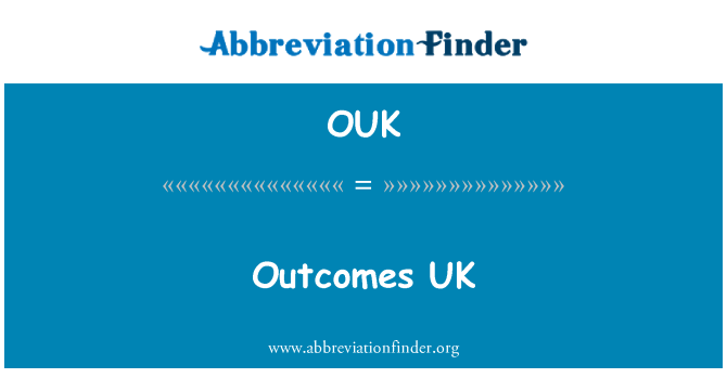 OUK: Outcomes UK