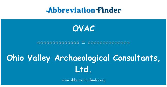OVAC: 俄亥俄河谷考古顾问有限公司
