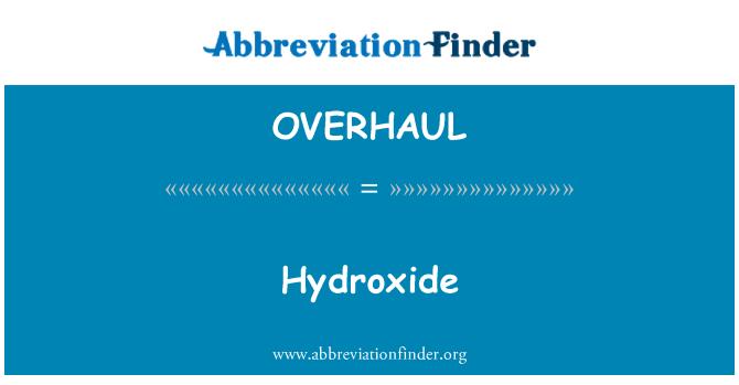 OVERHAUL: 氢氧化