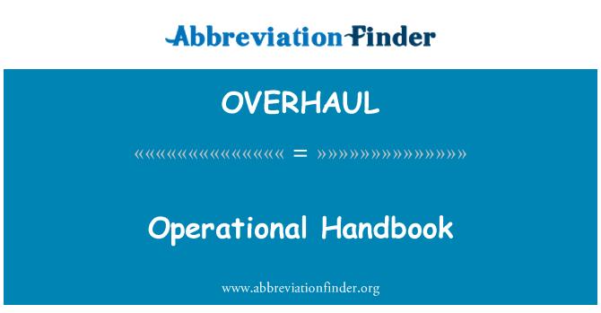 OVERHAUL: Buku panduan operasi